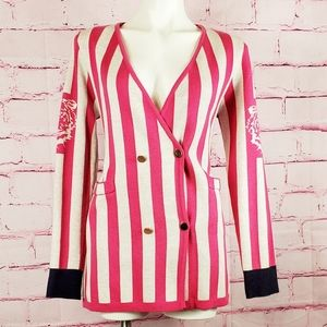 Vintage Metallic Thred Striped Pink Tiger Cardigan